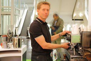koffiebar huren met barista voor op de beursstand